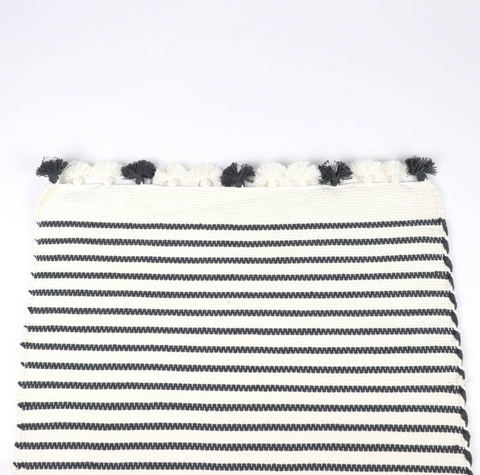 Grey Stripe Bathroom Mat