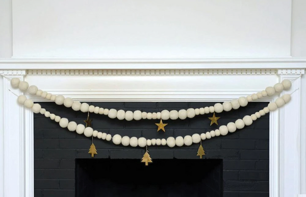 Felt Ball Garland with Ornaments