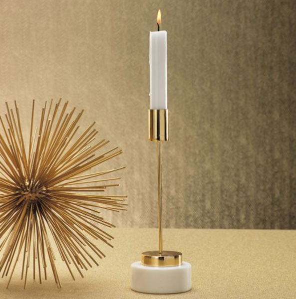 Brass & Gold Taper Candle Holder
