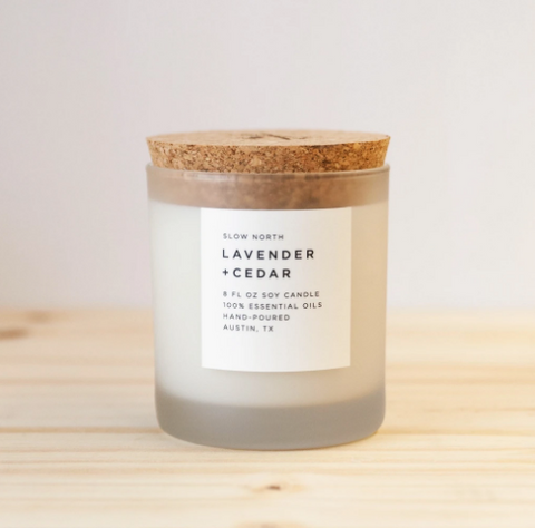 Lavender and Cedar candle