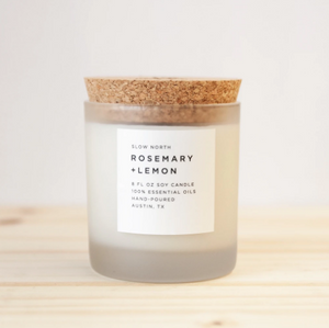 Rosemary and lemon Candle