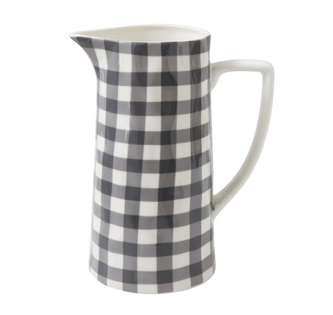 Gingham Pitcher