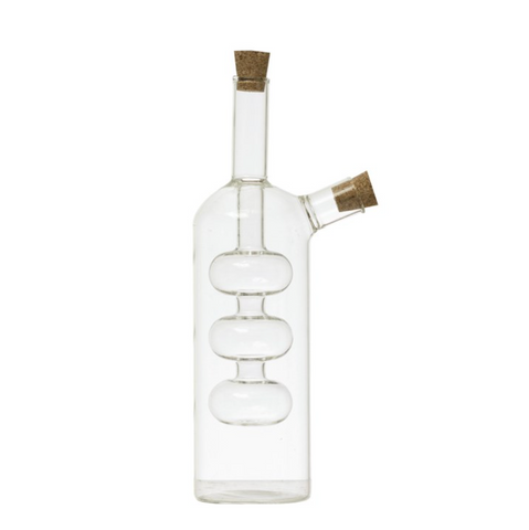 Hand Blown Glass Oil & Vinegar Cruet