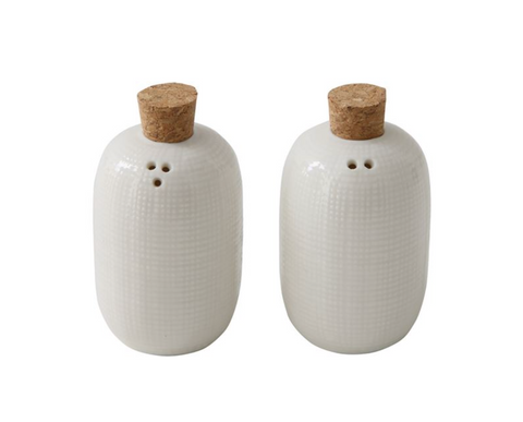 Embossed Ceramic Salt & Pepper