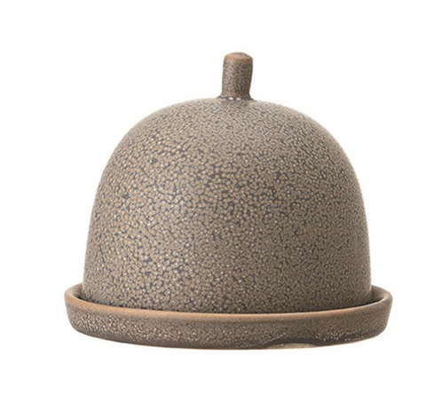 Grey Stoneware Cloche