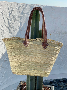Open Edge Straw Beach Basket