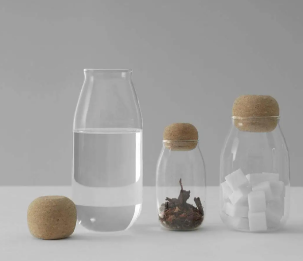 Glass Jar with Cork Top