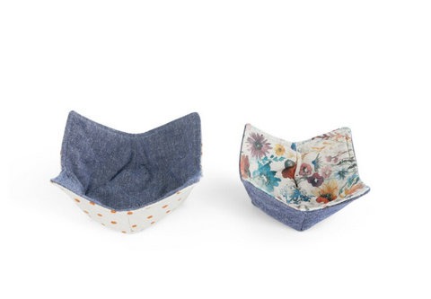 Meadow Flowers Microwavable Bowl Pot Holder - Set of 2 -