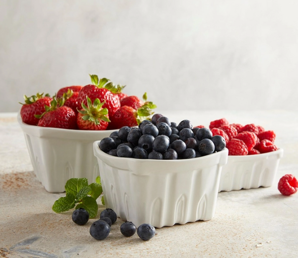 Porcelain Berry Basket