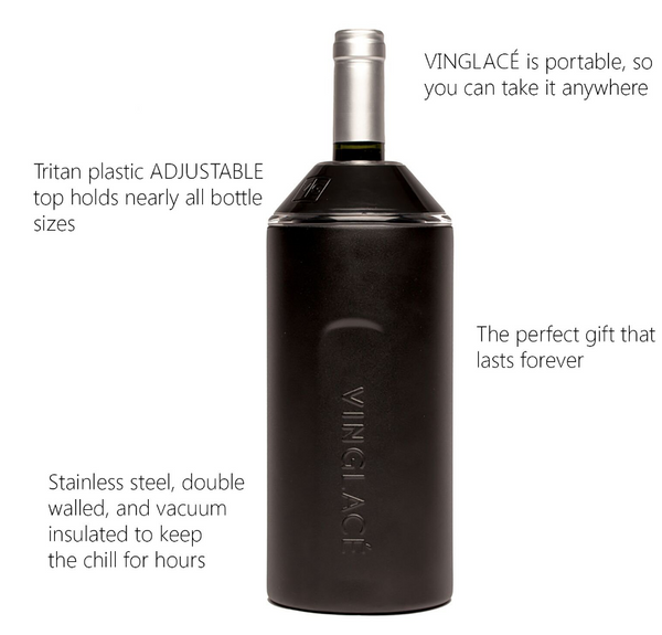 Vinglace Wine Cooler, Sea Glass Stainless Steel