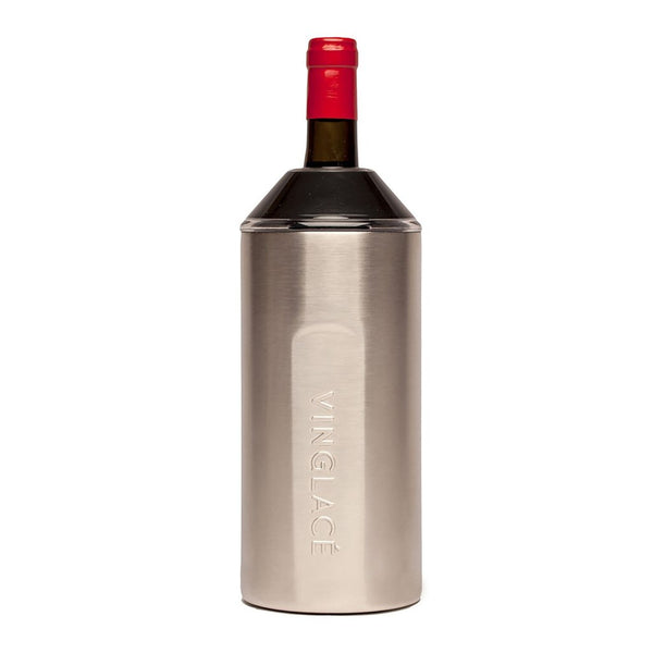 Vin Glace wine chiller in stainless steel