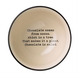 "Julie Bowl, ""Chocolate Is a Plant"""