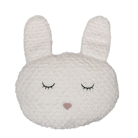 Fabric bunny head pillow
