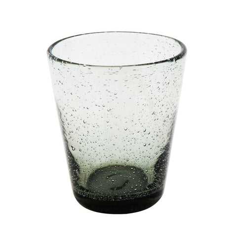 Bubble grey smoke drinking glass