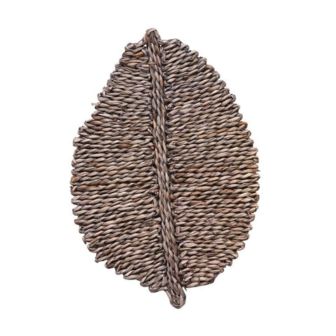 Hand-Woven Leaf Shaped Seagrass Placemat