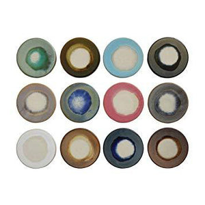 Multicolour Glazed Coasters, set of 4
