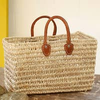 Simple open weave basket