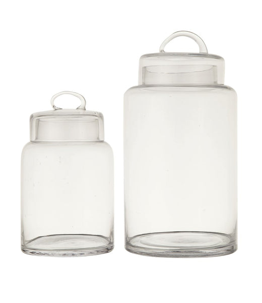 Large Glass Container with Lid