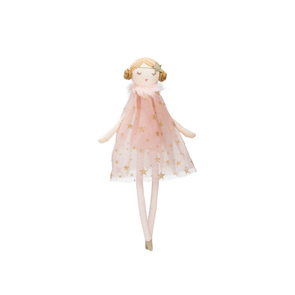Cotton Doll with a pink Star Dress,