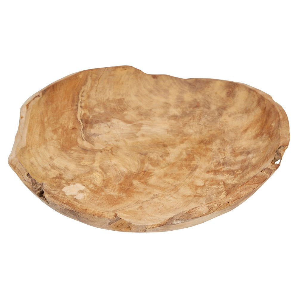 Teak Wood Bowl, large