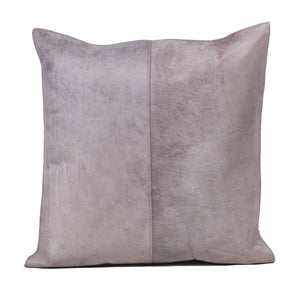 Natural Dyed Grey Hair Leather Pillow