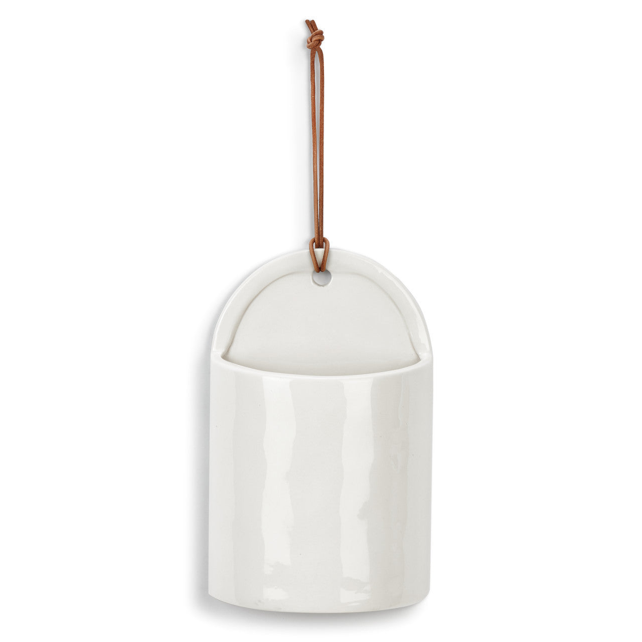 White Wide Ceramic Crock
