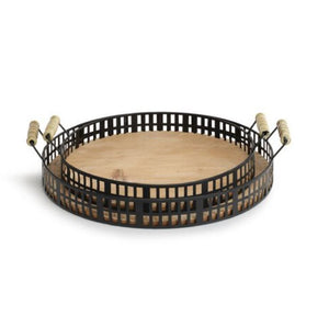 Iron Fir Wood Tray Set