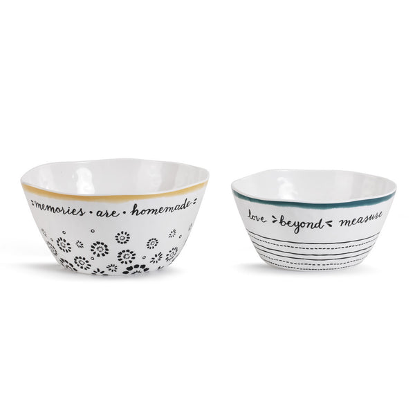 Made with Love Mixing Bowls - Set of 2