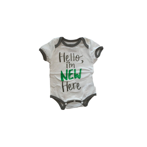 """Hello, I'm New Here"" Cotton Bodysuits"