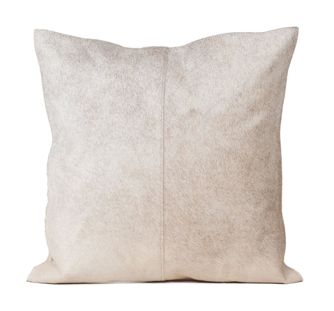 Natural Grey Hair Leather Pillow