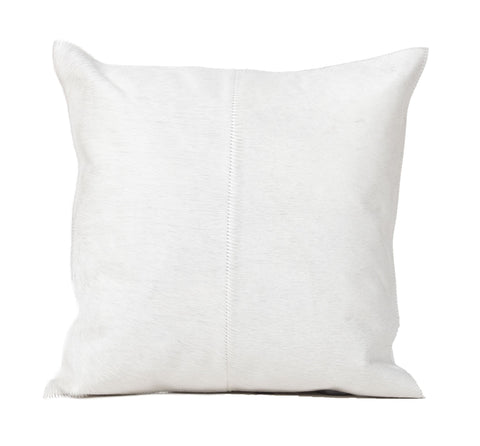 Natural White Hair Leather Pillow