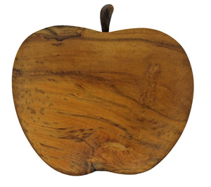 Wooden Apple Appetizer Plate