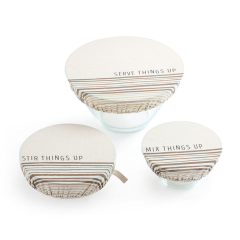 Stir Things Up Dish Covers Set of 3