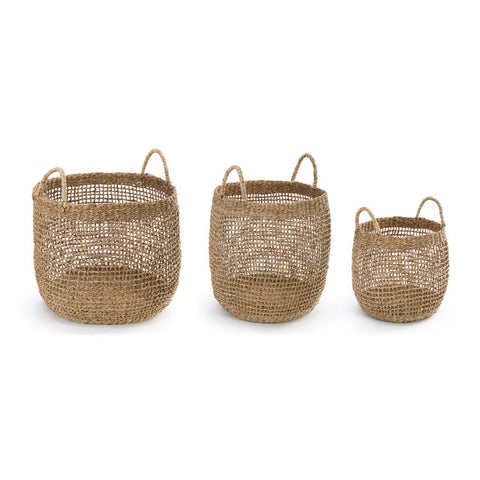 Open weave baskets