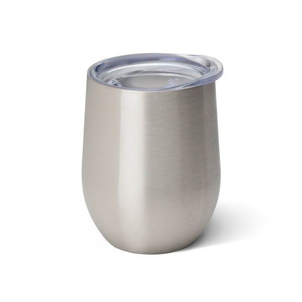 Insulated Stemless Wine Glass, Stainless Steel