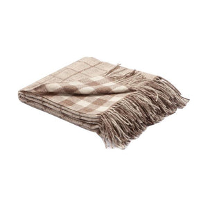 Natural & Undyed Linen & Ecru Throw