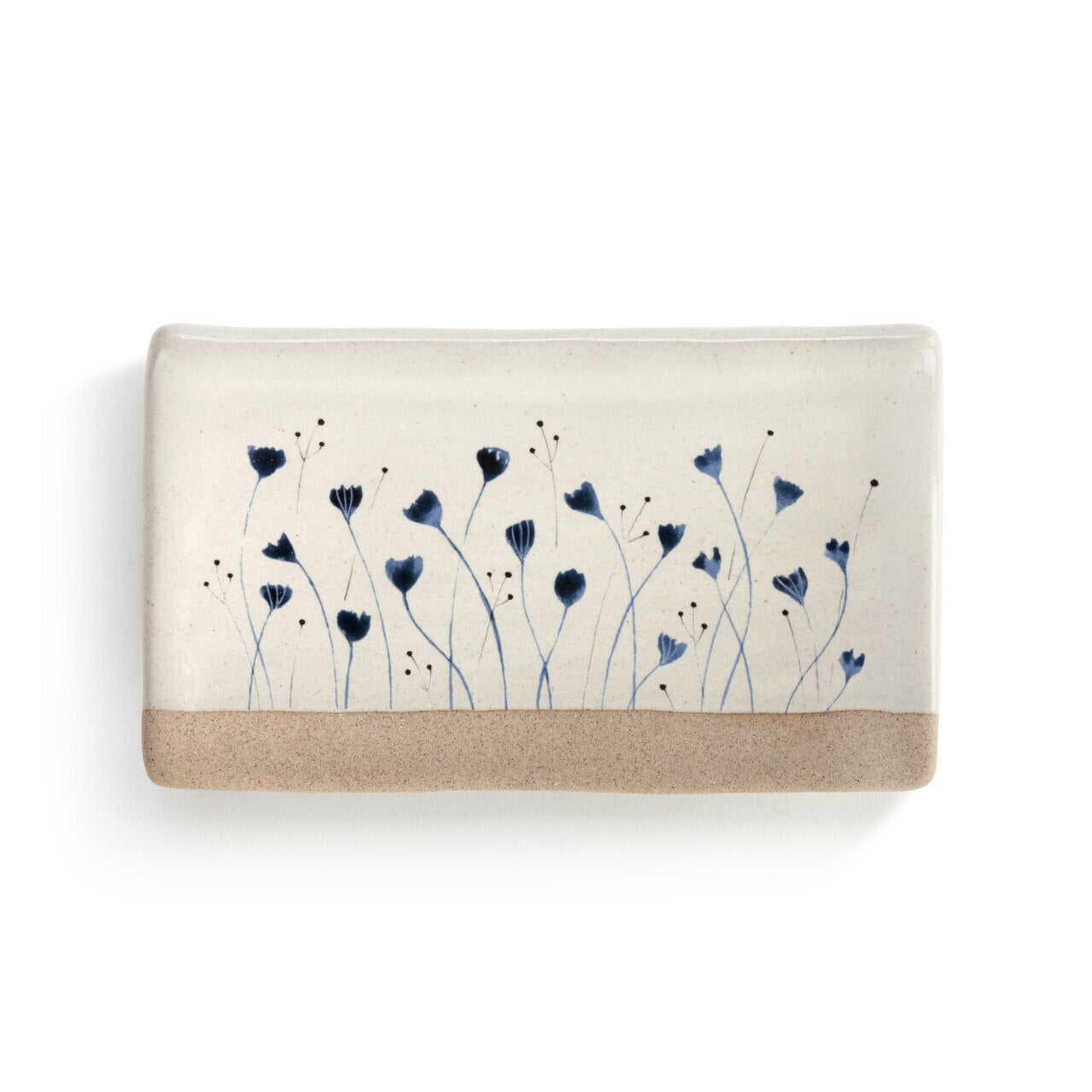 Blue Blossom Rectangle Spoon Rest
