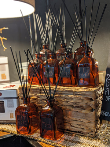 Reed Diffuser - Amber Glass w/Black Reeds