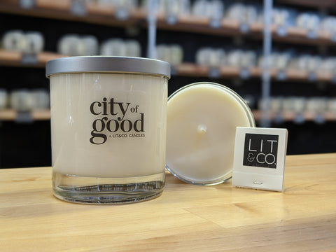 City of Good + Lit&Co Benefit Candle