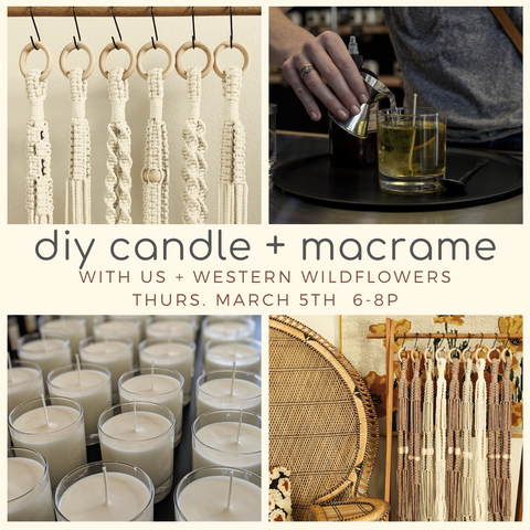 DIY Candle + Macrame 3/5/20