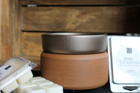 Soy Wax Tart Melter - Pewter+Walnut