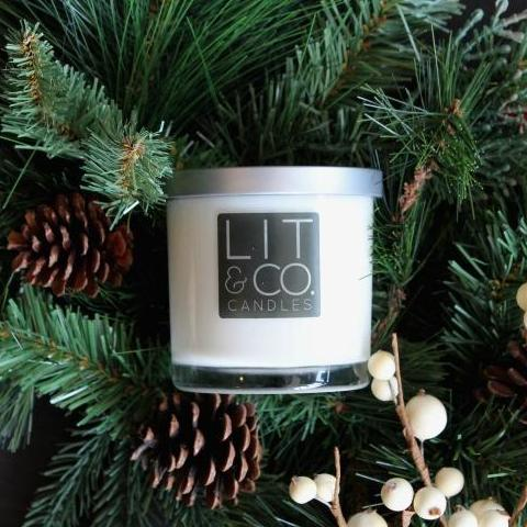Cinnamon+Spruce All Natural Soy Candle