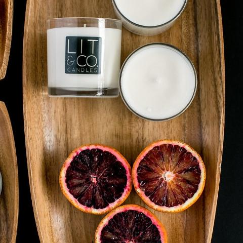 Blood Orange + Goji All Natural Soy Candle