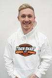 Train Smart Hoodie in White - Kid's