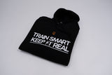 Train Smart Keep It Real Adult Bundle with Personalised Black Hoodie and Black Tee