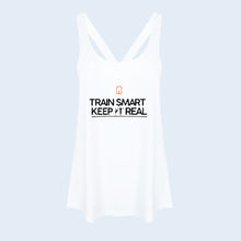 Nile Wilson Clothing Women's White Train Smart Keep It Real Vest. NW logo in orange. TSKIR in black.