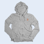Nile Wilson Clothing Adult Grey Zip up hoodie with orange NW logo
