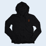 Nile Wilson Clothing Adult Black Zip up hoodie with orange NW logo