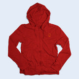 Nile Wilson Clothing Adult Red Zip up hoodie with orange NW logo