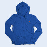 Nile Wilson Clothing Adult Royal Blue Zip up hoodie with orange NW logo